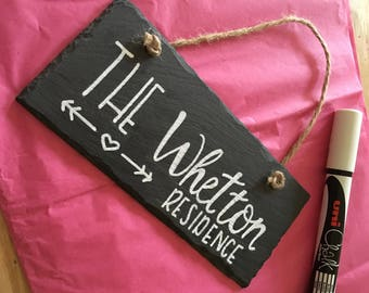 Personalised Slate Wall Hangings