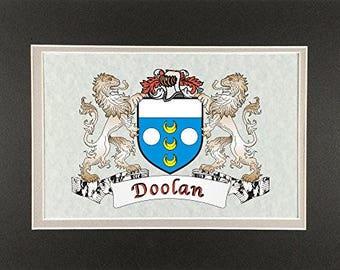 "Doolan Irish Coat of Arms Print - Frameable 9"" x 12"""