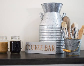 Engraved Pallet Wood Sign- Coffee Bar | Housewarming | Gift | Coffee Addict | Laser | Kitchen | Recycled | Sustainable | Eco Friendly