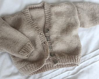 vintage baby knit cardigan