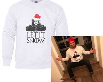 Let it Snow Unisex size sweater, Crewneck Sweatshirt