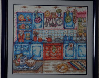 Framed Needle Work Wall Decor Picture  55x53 cm  Kitchen