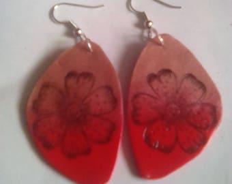 """Earrings """"flower power"""" in fimo"""