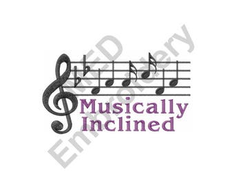 Music - Machine Embroidery Design, Musically Inclined