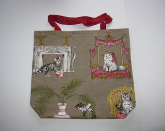 Crazy Cats Shopping/Tote Bag, One of a Kind