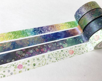 SAMPLE Washi Tape Eirakucho d'Estate masking tape Watercolor Color cosmos Clover