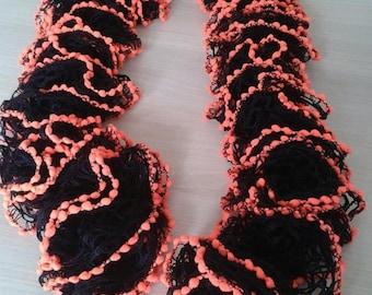 fancy neon color tassel scarf