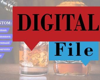 Personalized DIGITAL Labels for, Printable, Label Template, Instant Download, Editable PDF File, Digital