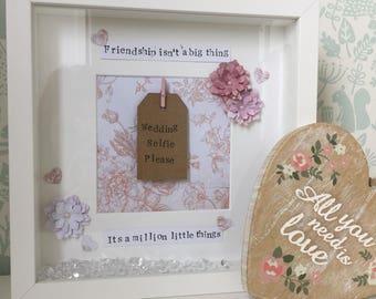 Bridesmaid Gift/Maid of Honour Gift/Bridesmaid Frame/Personalised Frame/Personalised Gift/Best Friend Gift/Wedding Gift