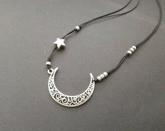 Moon vegan necklace