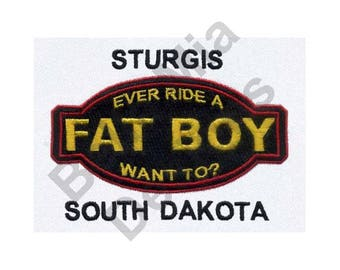 South Dakota - Machine Embroidery Design, Sturgis South Dakota