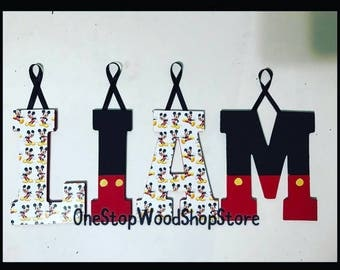 Mickey mouse letters, Mickey, nursery decor, Mickey mouse decor