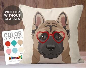 Akita Pillow | Pet Pillow | Cute Dog Gift | Dog Throw Pillow | Stuffed Dog Pillow | Decorative Pillow | Birthday Gift | Gifts Under 30