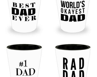 Father's Day 2017 Gifts- Unique Gifts For Dad - Best Dad Gifts - Gift Ideas For Dad -4 Shot Glasses