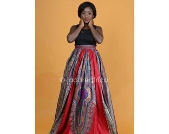 African print dashiki skirt / Dashiki skirt / African clothing / African maxi skirt / dashiki maxi skirt / Angelina skirt / Ankara maxi