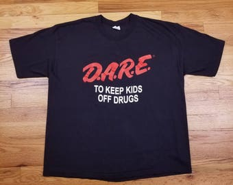 Vintage 90s DARE T shirt size Large