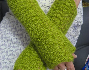 Fingerless Mittens Armwarmers Long Gloves Wristwarmers Warm Cosy Handwarmers Traditional Lace