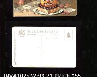 Vintage unused  Tucks Halloween Postcard Embossed Reduced 20 Dollars inv 1025 bbkpg5