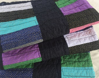 Stacked Coins Quilt Colorful Baby Quilt Toddler Quilt Lap Quilt Handmade in the USA Sofa Throw Gift for Man Housewarming Gift