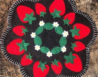 Strawberry Center Piece 'Penny Rug'