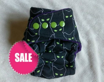 Halloween Big Newborn AIO - all in one - fitted diaper - Halloween