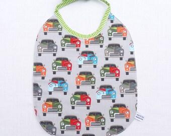 bavoir bébé original réversible 0/24 mois «voitures»