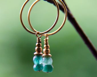 Emerald pair - earrings