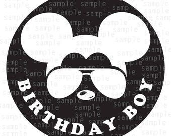 Inspired Mickey glasses Birthday Boy, SVG, JPG, PNG, Dfx, download files, svg files, Mickey Mouse svg, Disney svg, Mickey svg, Mickey vector