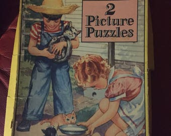 Two Whitman Picture Puzzles/ jigsaw puzzles N0 4104