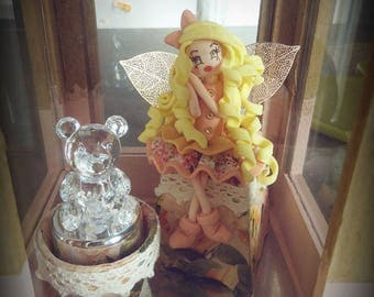 Teddy bear and cold porcelain fairy night light Lantern