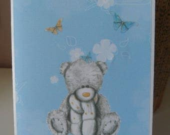 Kids birthday card, with Teddy bear