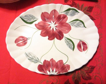 "BLUE RIDGE Southern Potteries BECKY 13.25"" Oval  Platter - L@@K"