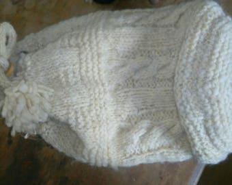 Cableknit dufflebag .Hampshire fleece chic