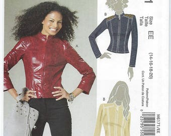 McCalls 6171 (EE) - MISSES Lined Jackets / Sizes 14, 16, 18, 20