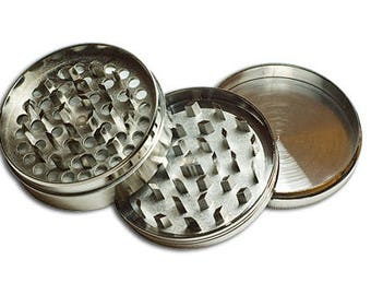 3 Piece Titanium Coffee Spice Tobacco Herb Grinder in assorted colors