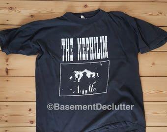 Fields Of The Nephilim - Dawnrazor w. back print - vintage t-shirt XL