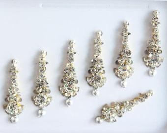 Silver Bridal Long Face Jewels,Wedding Bindis,Face Glitter Bindi,Silver Bindis Art,Bollywood Bindis,Long Bindis,Forehead Sticker,Face Gems