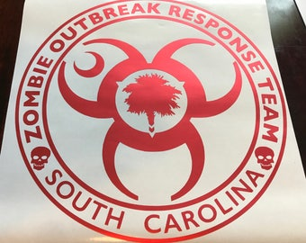 "NEW: Zombie Response Team 11.5"" Decal- CUSTOMIZEABLE!"
