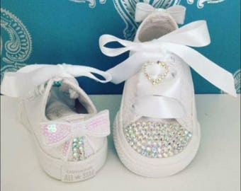 White crystal Converse