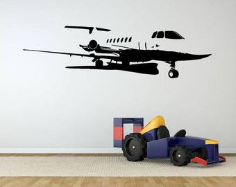 Aircraft Airplane Airlines Blimp Chopper Flying Machine Jet Plane Sky Fly High Clouds  DIY Wall Stickers Decals Vinyl Mural Decor Art VG118