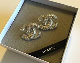 Over Size Silver Stud Earrings