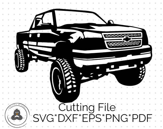 chevy truck svg silhouette svg  u0026 dxf cutting files for cricut