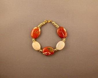 Australian Red Jasper and Australian Aventurine Bracelet