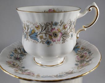 PARAGON BONE CHINA Meadowvale Tea Cup and Saucer