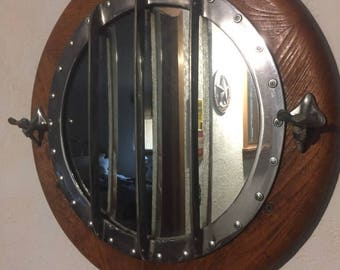 Nautical Real Boat Hatch Converted To Mirror