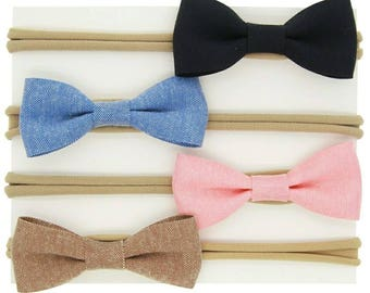 Preorder- Set of 4 bow headbands