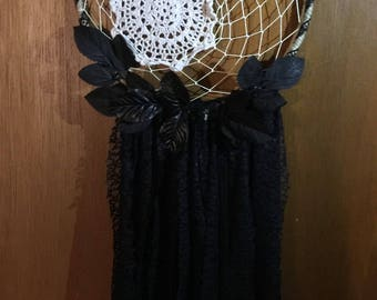 Doily black lace dreamcatcher