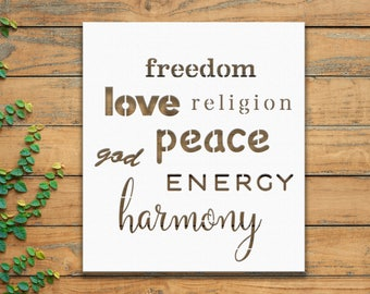 "Freedom Energy Metal Wall Sign Art, Home Decor Gift 18""x16"" Wood,vein,color options"