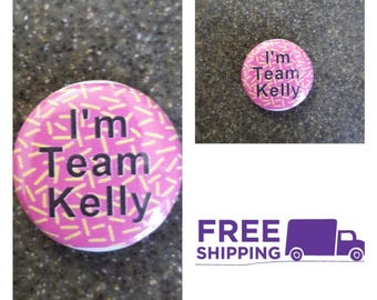 """1"""" Saved by the Bell Team Kelly Button Pin or Magnet, FREE SHIPPING & Coupon Codes"""