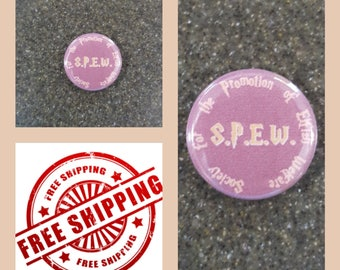 "Harry Potter ""S.P.E.W."" Button Pin, FREE SHIPPING & Coupon Codes"
